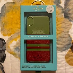 Kate Spade iPhone X phone case.